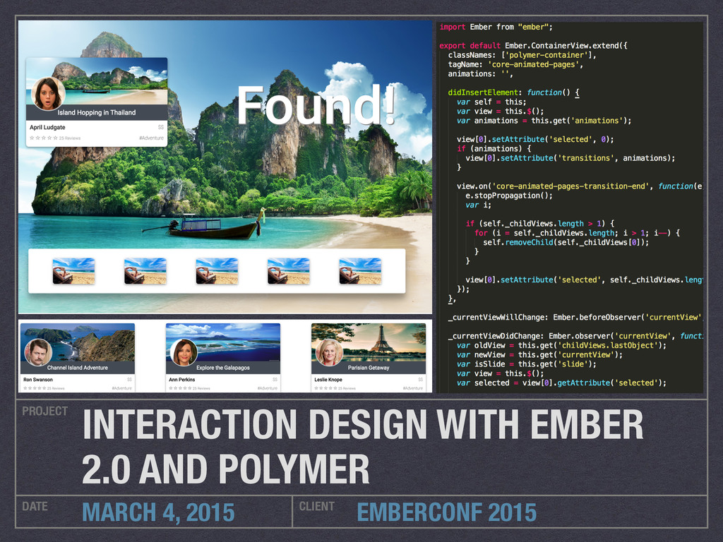 EMBERCONF 2015 PROJECT DATE CLIENT MARCH 4, 201...
