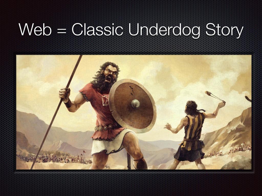 Web = Classic Underdog Story