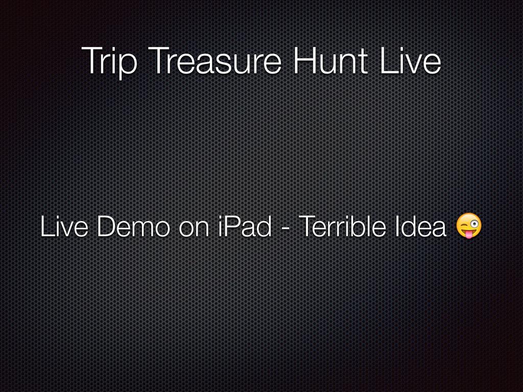 Trip Treasure Hunt Live Live Demo on iPad - Ter...