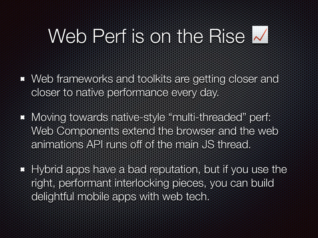 Web Perf is on the Rise  Web frameworks and too...