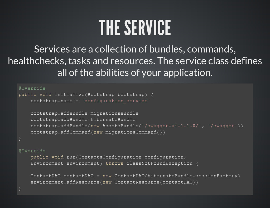 THE SERVICE Services are a collection of bundle...