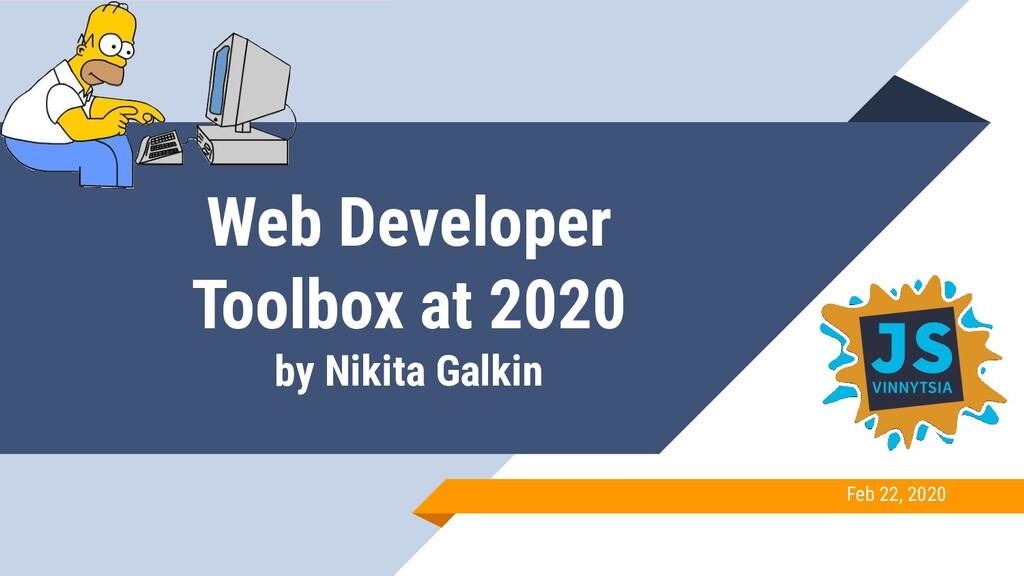 Web Developer Toolbox at 2020 by Nikita Galkin ...