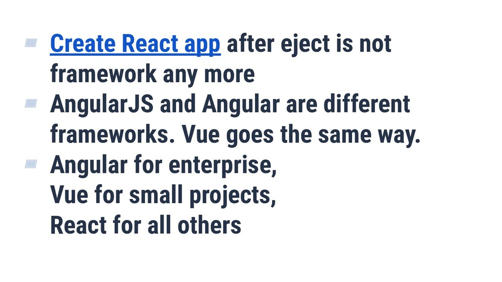▰ Create React app after eject is not framework...