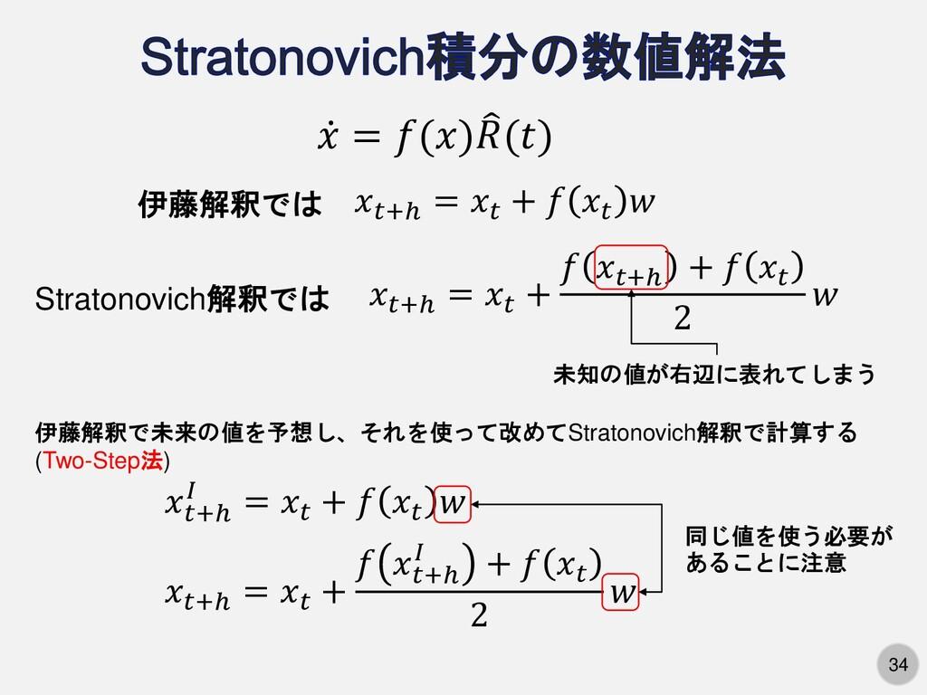 34 ሶ 𝑥 = 𝑓(𝑥)  𝑅(𝑡) 𝑥𝑡+ℎ = 𝑥𝑡 + 𝑓 𝑥𝑡+ℎ + 𝑓 𝑥𝑡 ...