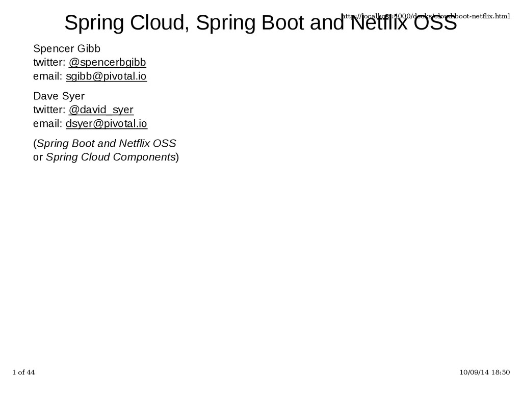 Spring Cloud, Spring Boot and Netflix OSS Spenc...