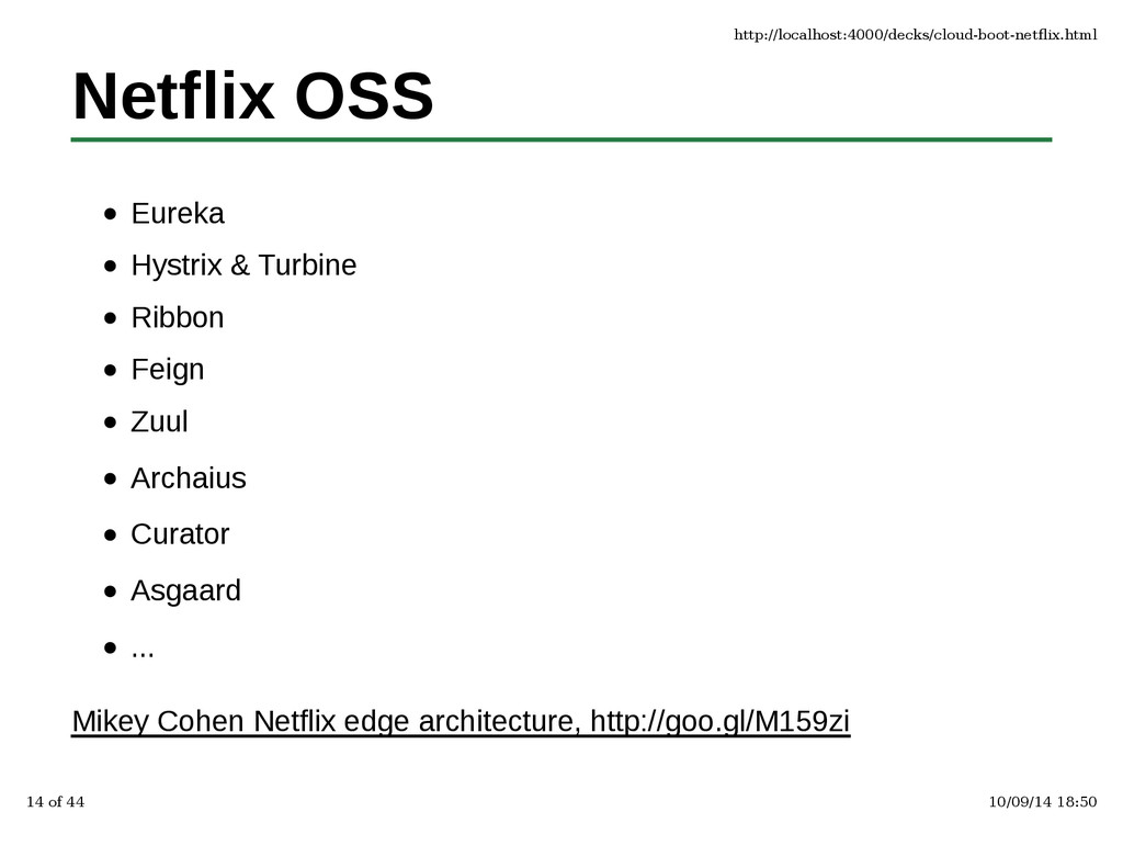 Netflix OSS Eureka Hystrix & Turbine Ribbon Fei...