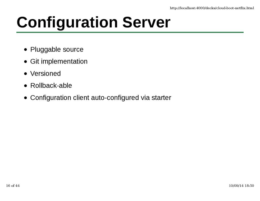 Configuration Server Pluggable source Git imple...