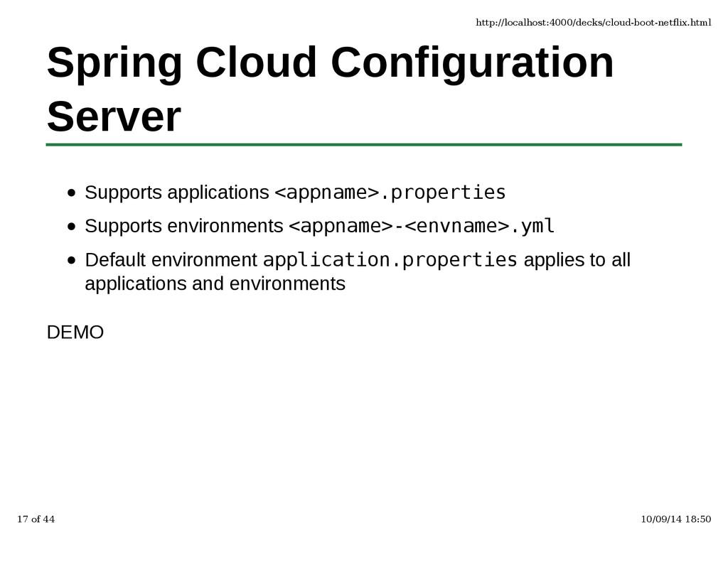 Spring Cloud Configuration Server Supports appl...