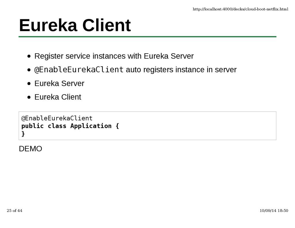Eureka Client Register service instances with E...