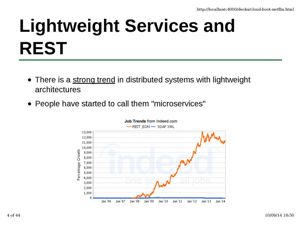 Lightweight Services and REST There is a strong...