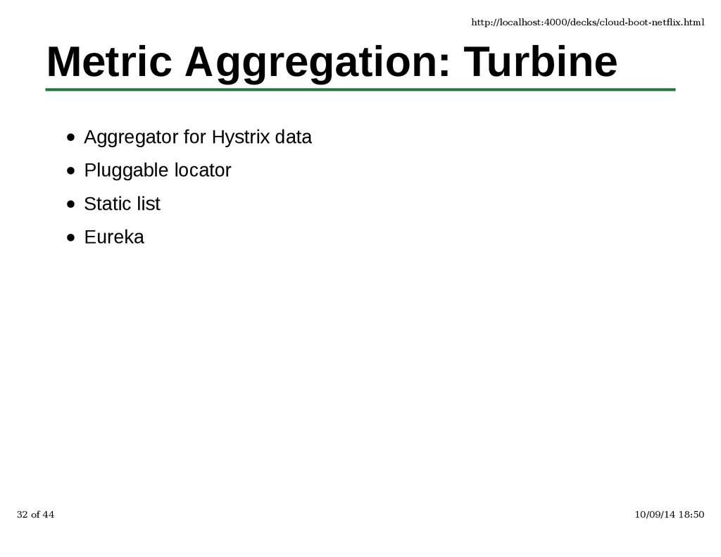 Metric Aggregation: Turbine Aggregator for Hyst...