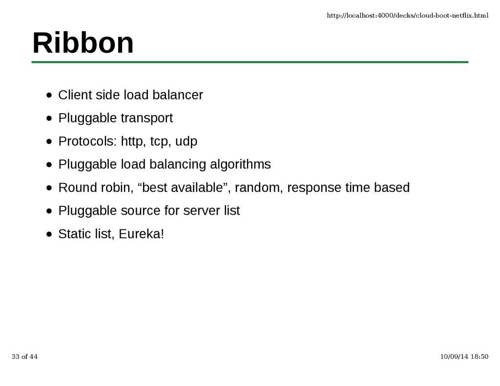 Ribbon Client side load balancer Pluggable tran...