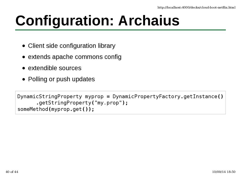 Configuration: Archaius Client side configurati...