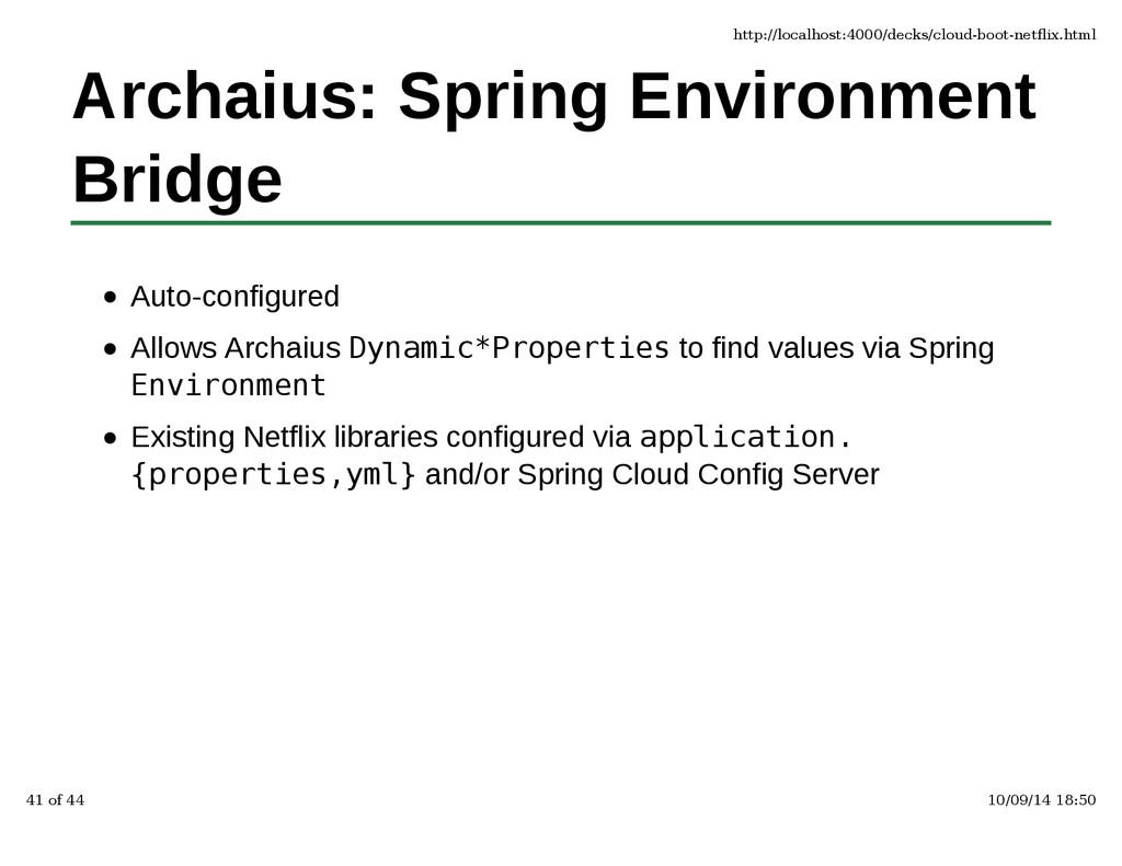 Archaius: Spring Environment Bridge Auto-config...