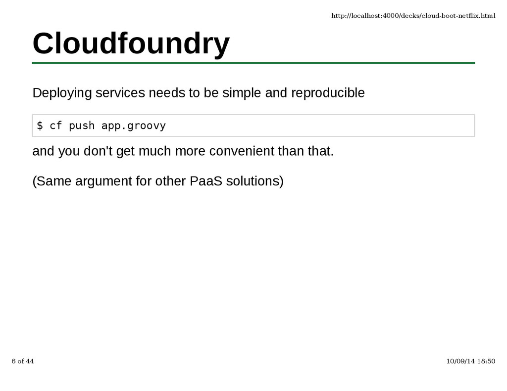 Cloudfoundry Deploying services needs to be sim...