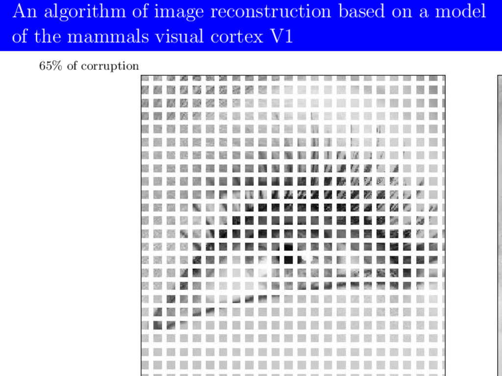 An algorithm of image reconstruction based on a...