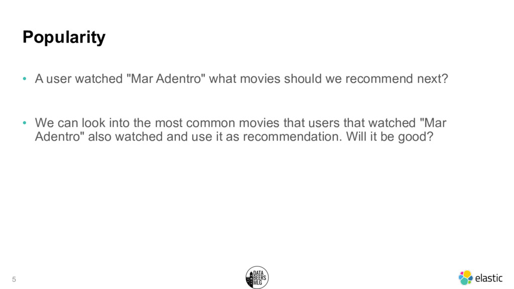 "Popularity • A user watched ""Mar Adentro"" what ..."