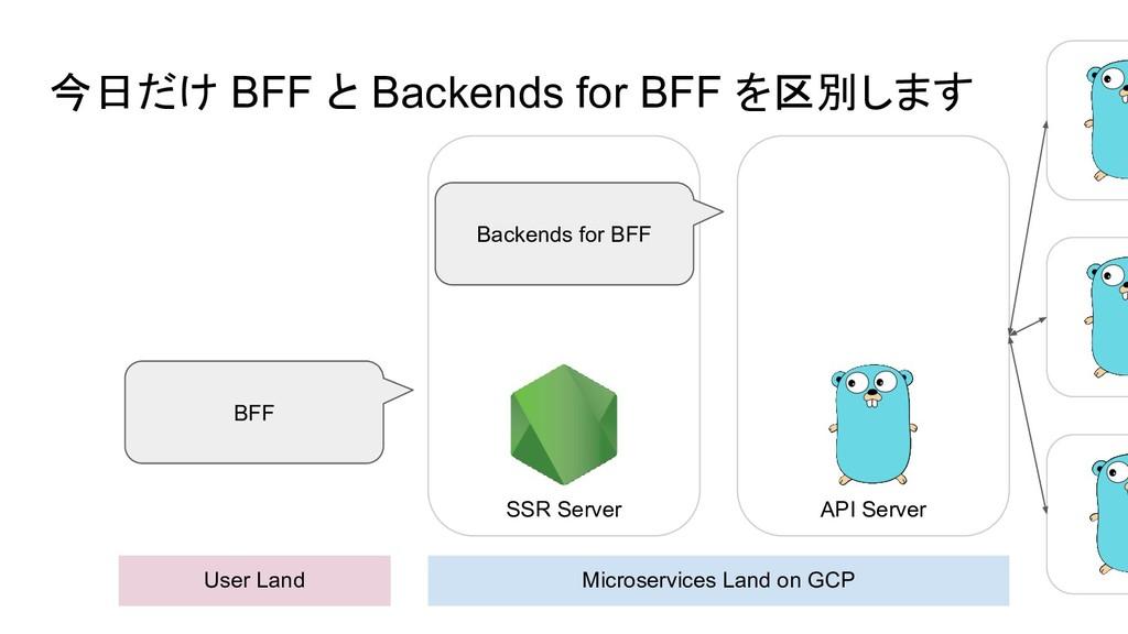 今日だけ BFF と Backends for BFF を区別します User Land Mi...
