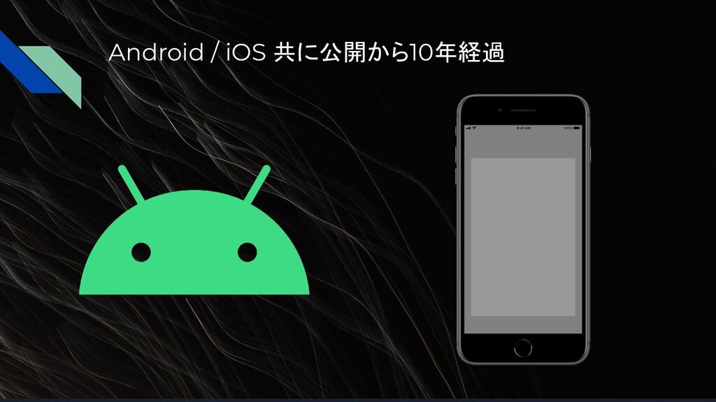 Android / iOS 共に公開から10年経過