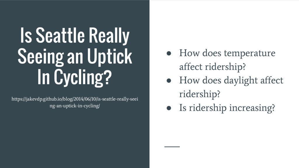 Is Seattle Really Seeing an Uptick In Cycling? ...