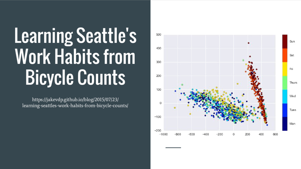 Learning Seattle's Work Habits from Bicycle Cou...