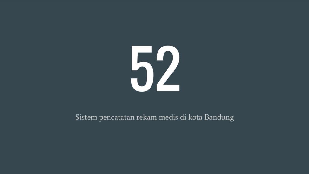 52 Sistem pencatatan rekam medis di kota Bandung