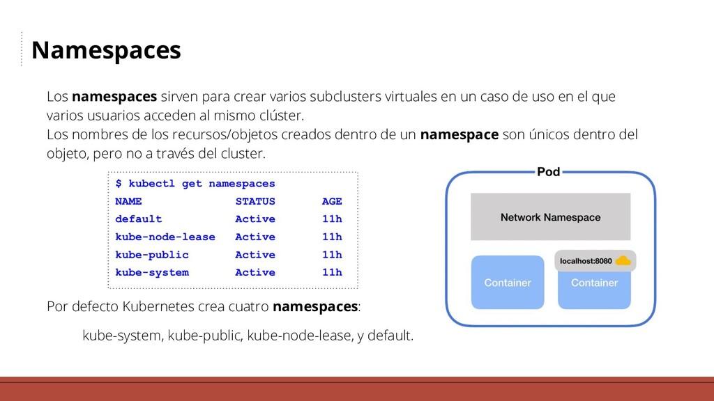Namespaces Los namespaces sirven para crear var...