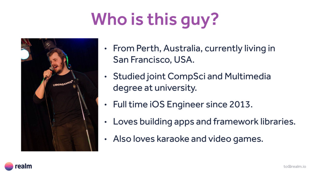 Who is this guy? • From Perth, Australia, curre...