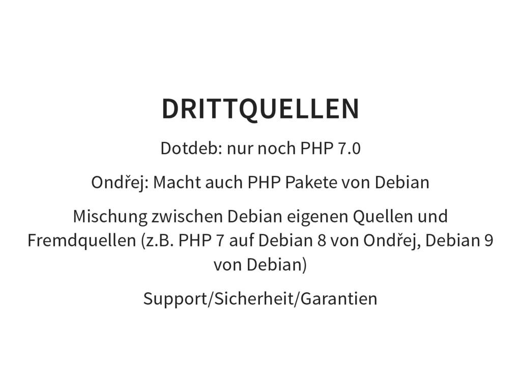 DRITTQUELLEN Dotdeb: nur noch PHP 7.0 Ondřej: M...