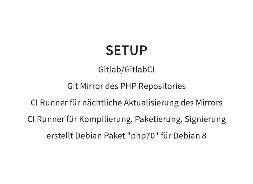 SETUP Gitlab/GitlabCI Git Mirror des PHP Reposi...
