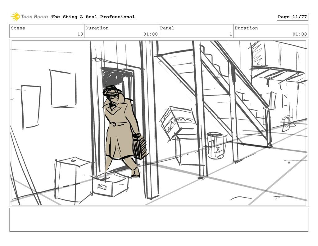 Scene 13 Duration 01:00 Panel 1 Duration 01:00 ...