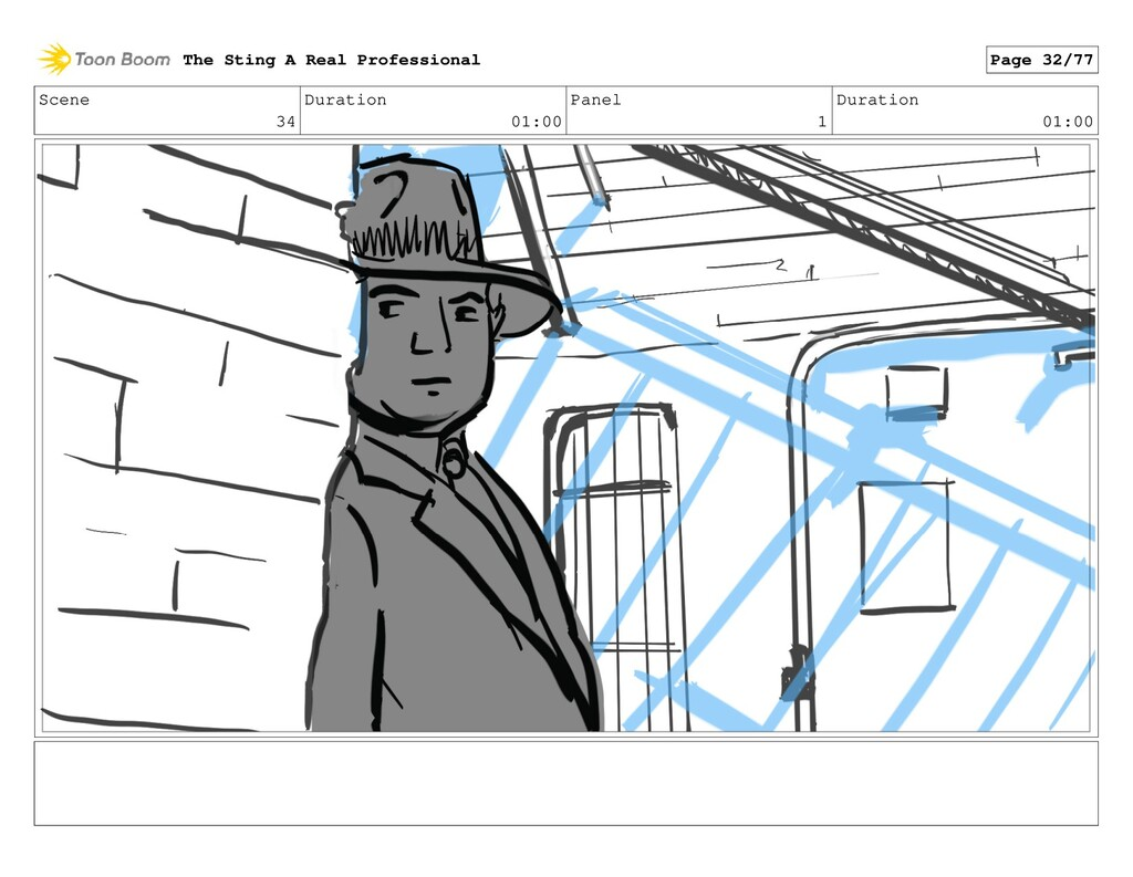 Scene 34 Duration 01:00 Panel 1 Duration 01:00 ...