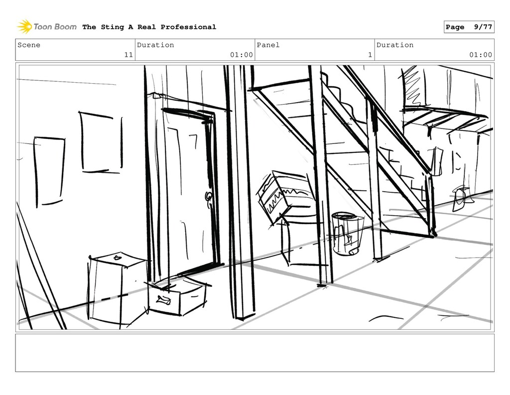 Scene 11 Duration 01:00 Panel 1 Duration 01:00 ...