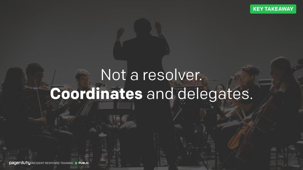 Not a resolver. Coordinates and delegates. INCI...