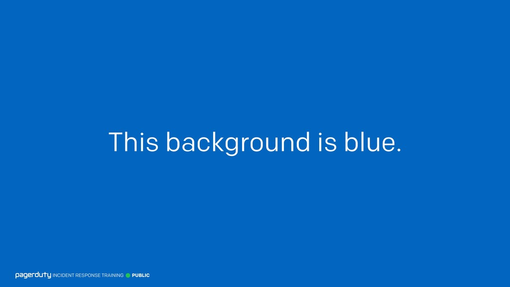 This background is blue. INCIDENT RESPONSE TRAI...