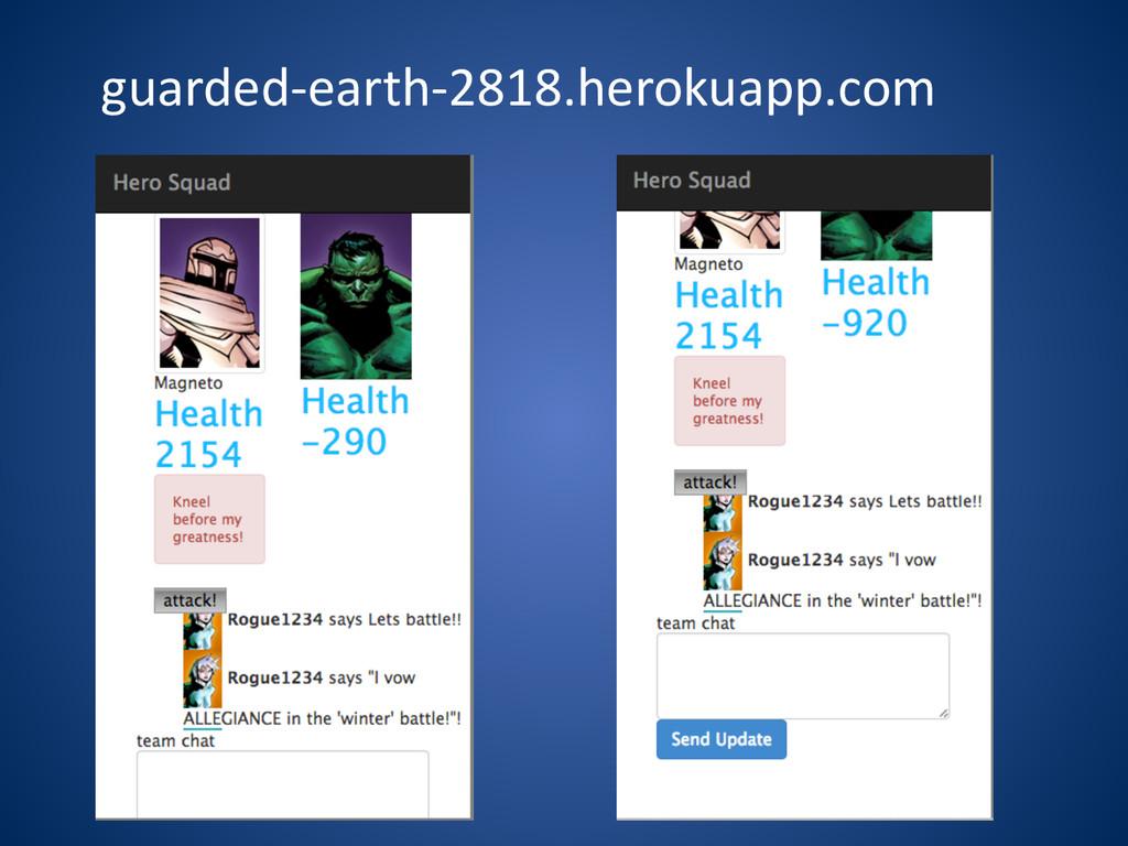 guarded-‐earth-‐2818.herokuapp.com