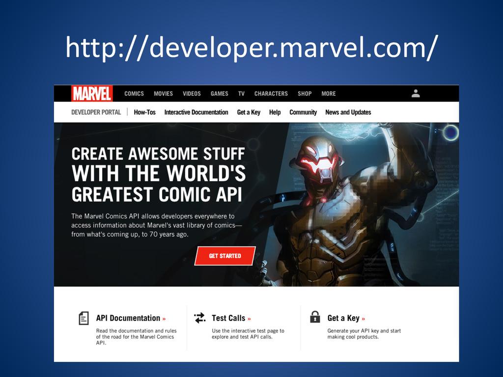 http://developer.marvel.com/