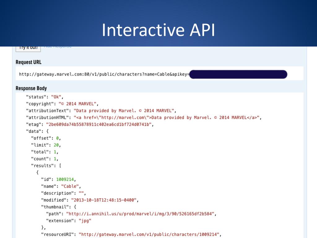 Interactive API