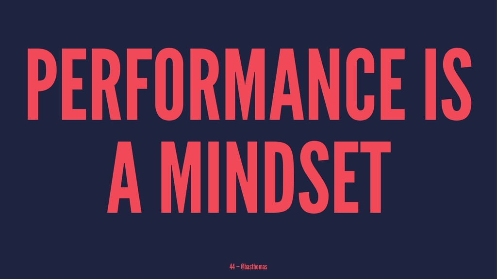PERFORMANCE IS A MINDSET 44 — @basthomas