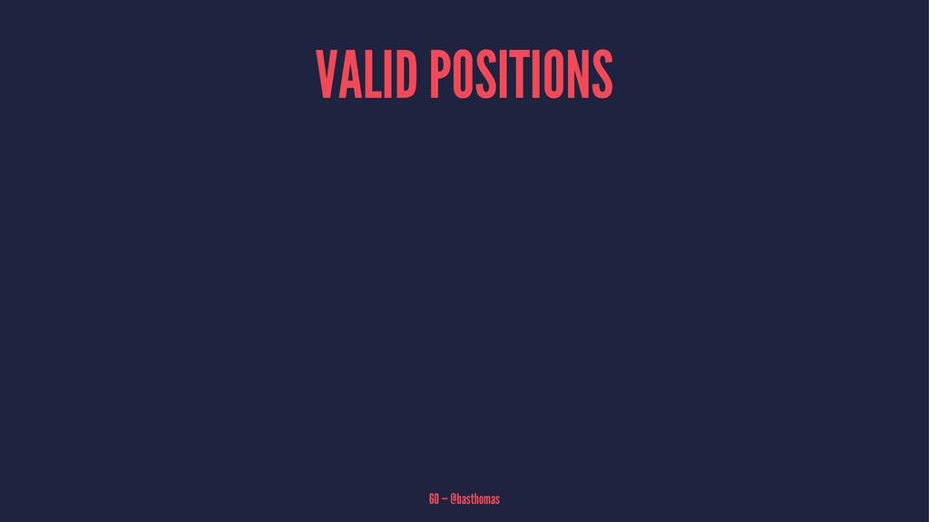 VALID POSITIONS 60 — @basthomas