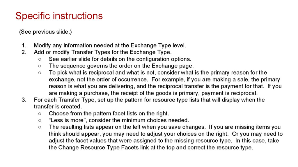 Specific instructions (See previous slide.) 1. ...