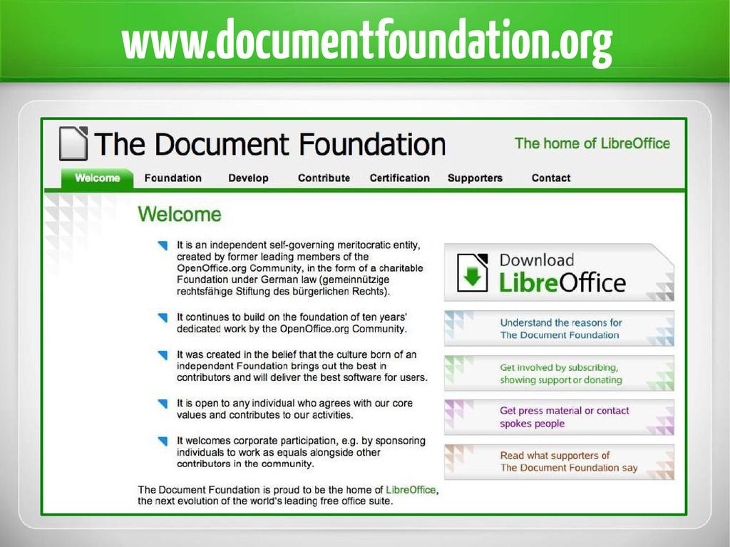 www.documentfoundation.org