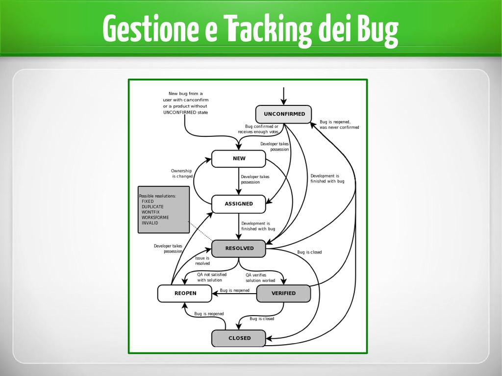 Gestione e Tracking dei Bug