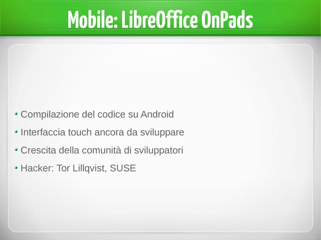 Mobile: LibreOffice OnPads Compilazione del cod...