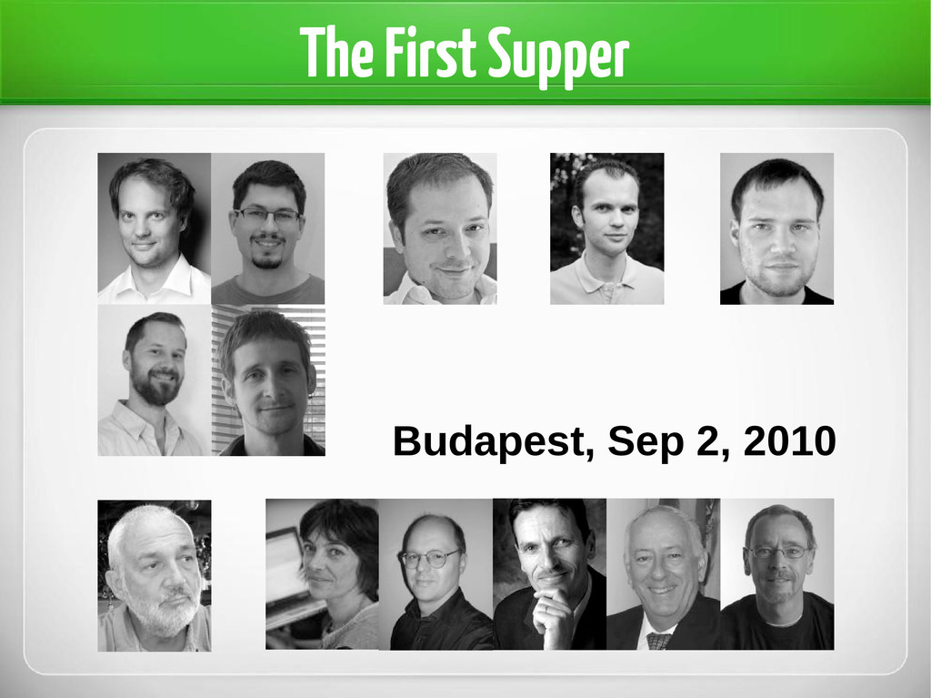 The First Supper Budapest, Sep 2, 2010