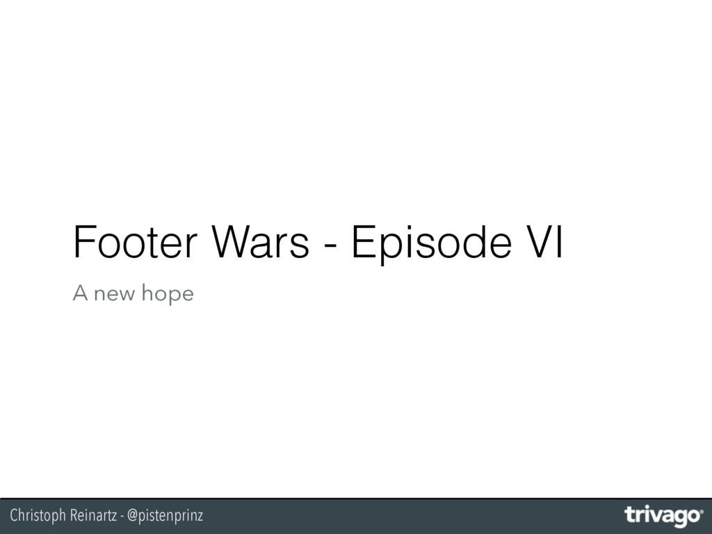 Christoph Reinartz - @pistenprinz Footer Wars -...