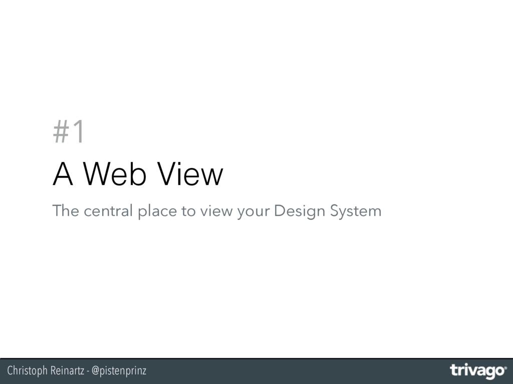 Christoph Reinartz - @pistenprinz #1 A Web View...