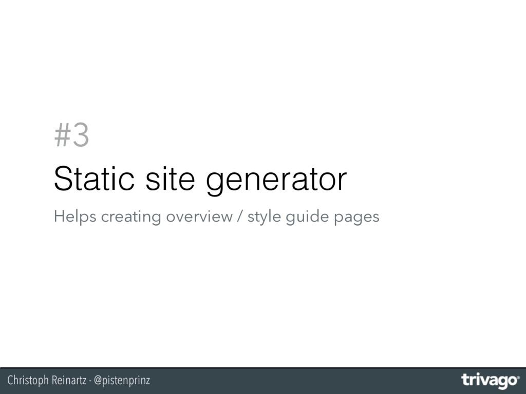 Christoph Reinartz - @pistenprinz #3 Static sit...