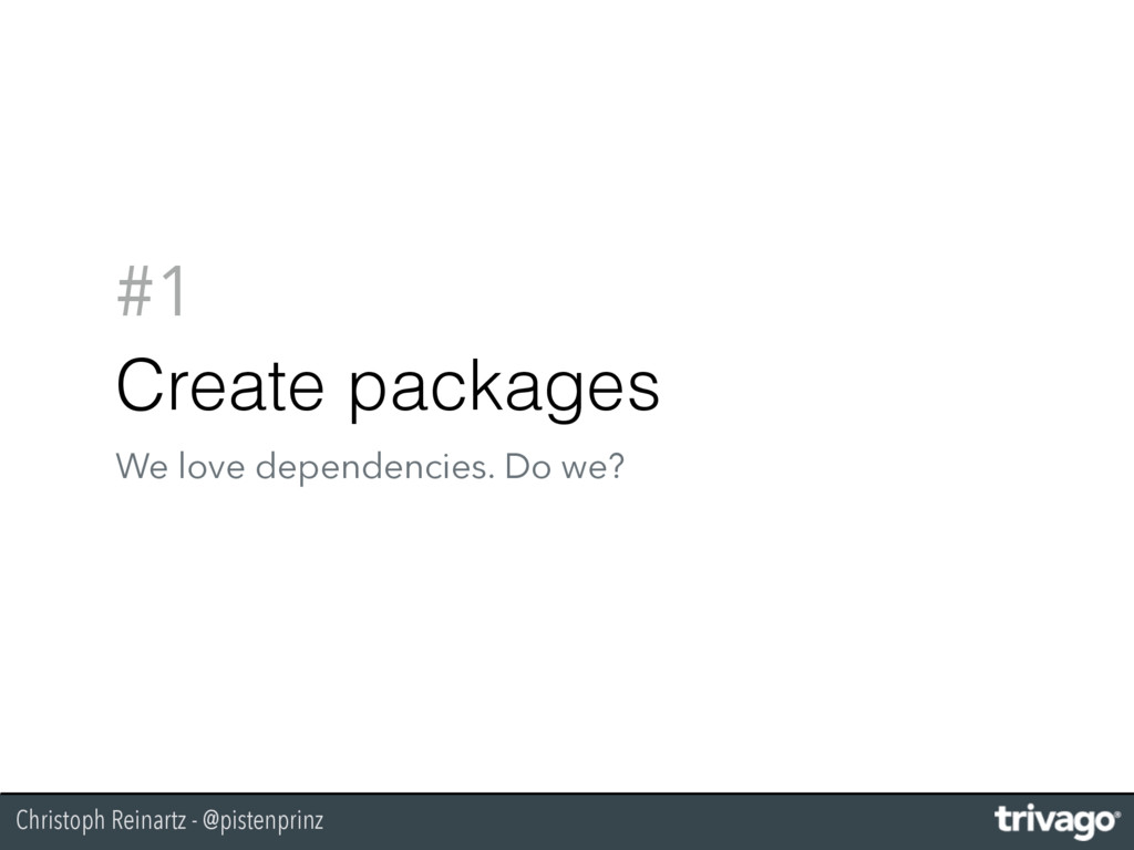 Christoph Reinartz - @pistenprinz #1 Create pac...