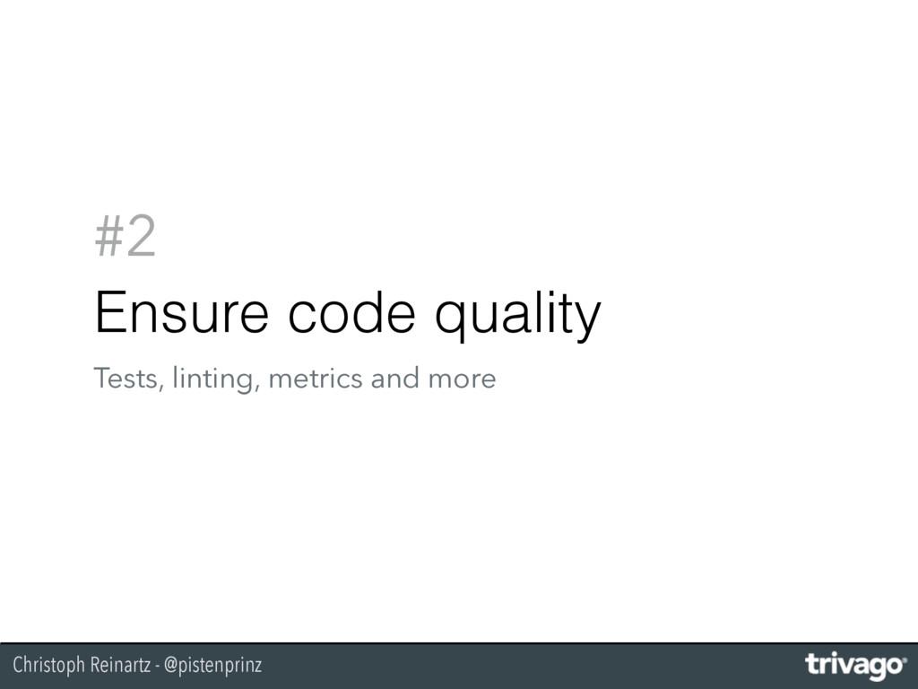 Christoph Reinartz - @pistenprinz #2 Ensure cod...